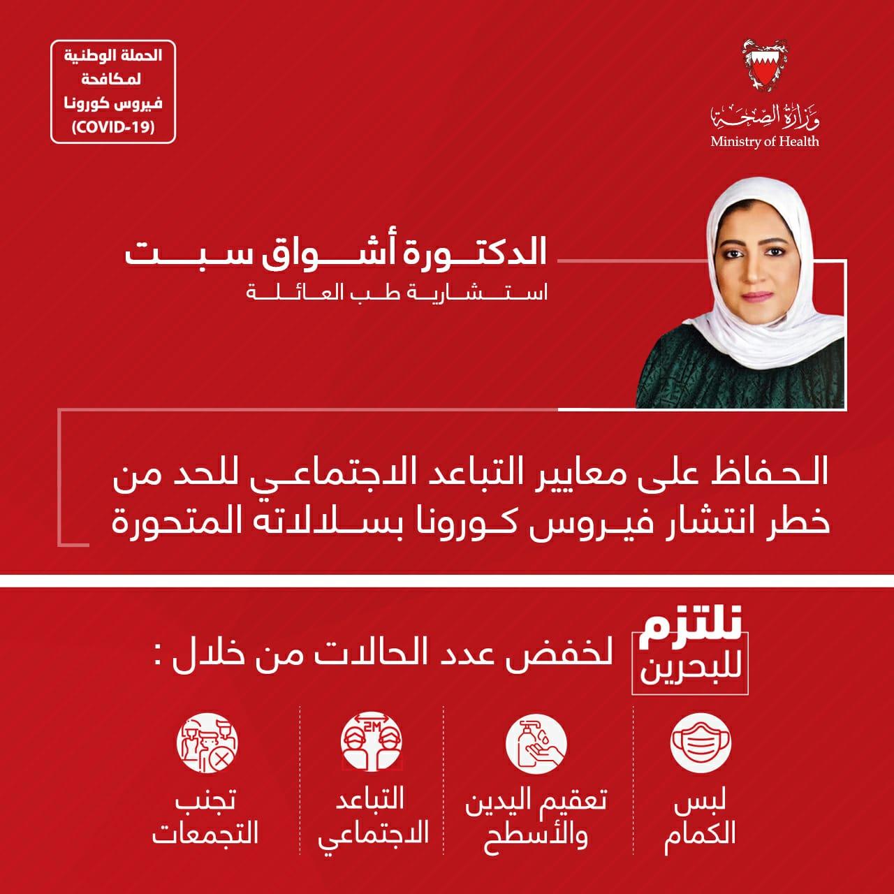 د. أشواق سبت: الحفاظ على معايير التباعد الاجتماعي للحد من خطر انتشار فيروس كورونا بسلالاته المتحورة